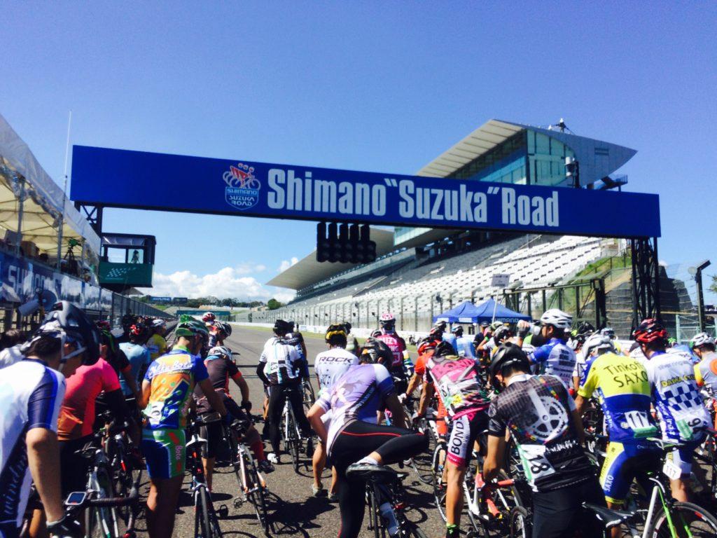 シマノ鈴鹿ロードレースの出走直前の様子