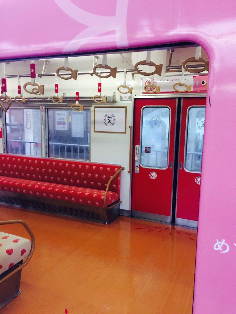 南海加太線めでたい電車の車内