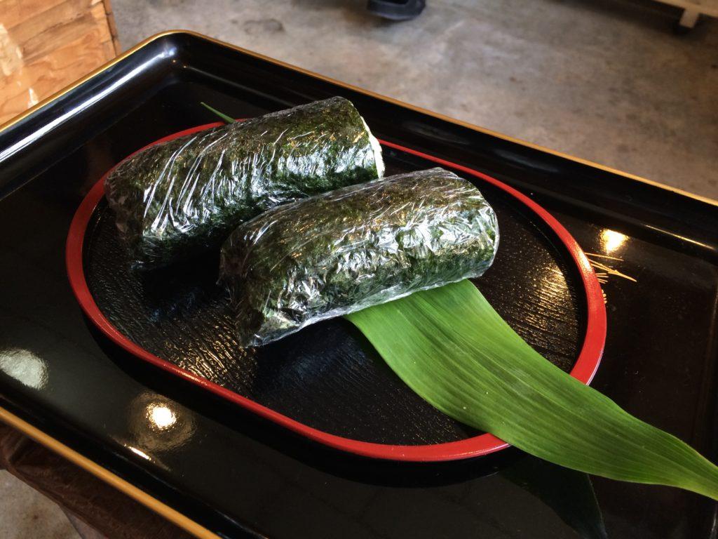 和歌山市加太のObajiキッチンの加太巻き
