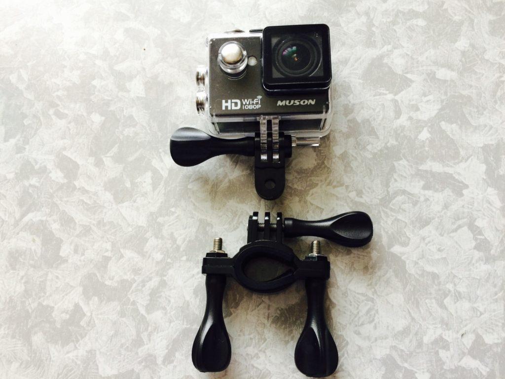 アクションカメラMUSONの使用例